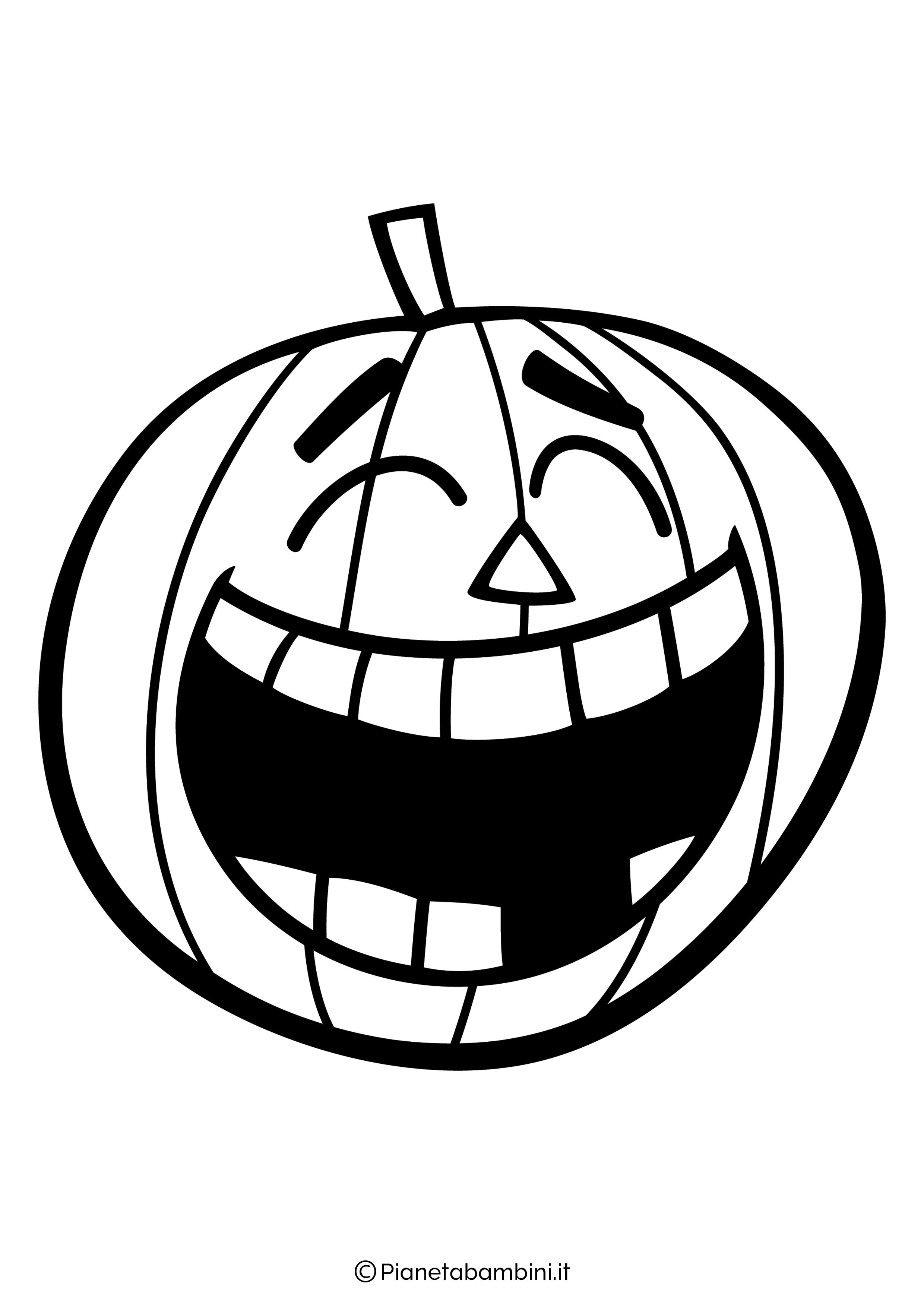 Disegno di zucca di Halloween da Colorare 17