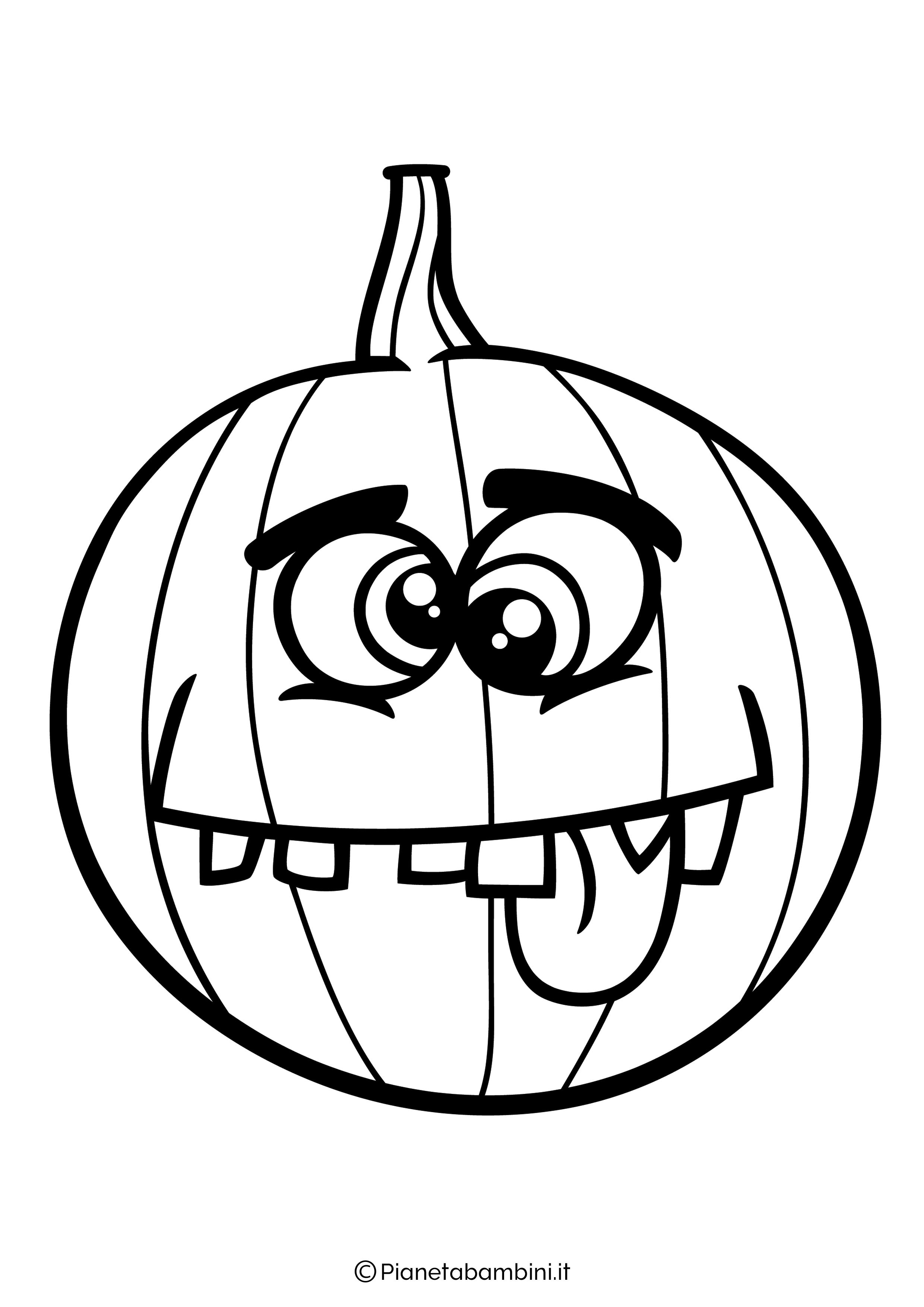 Disegno di zucca di Halloween da Colorare 18