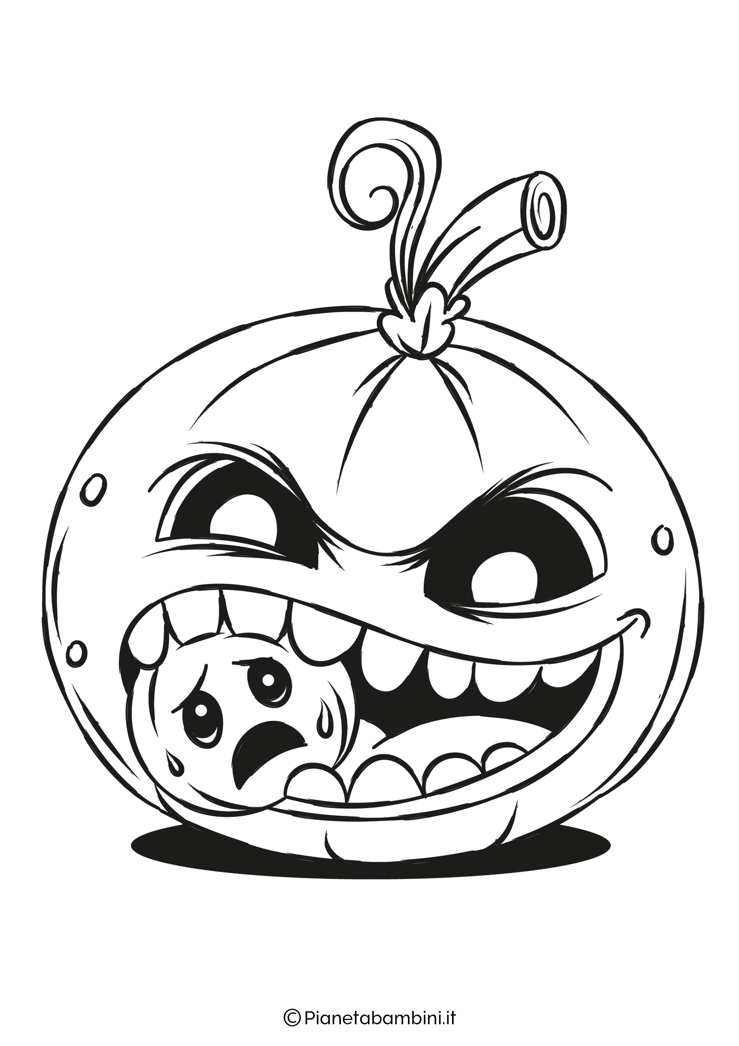Disegno di zucca di Halloween da Colorare 20