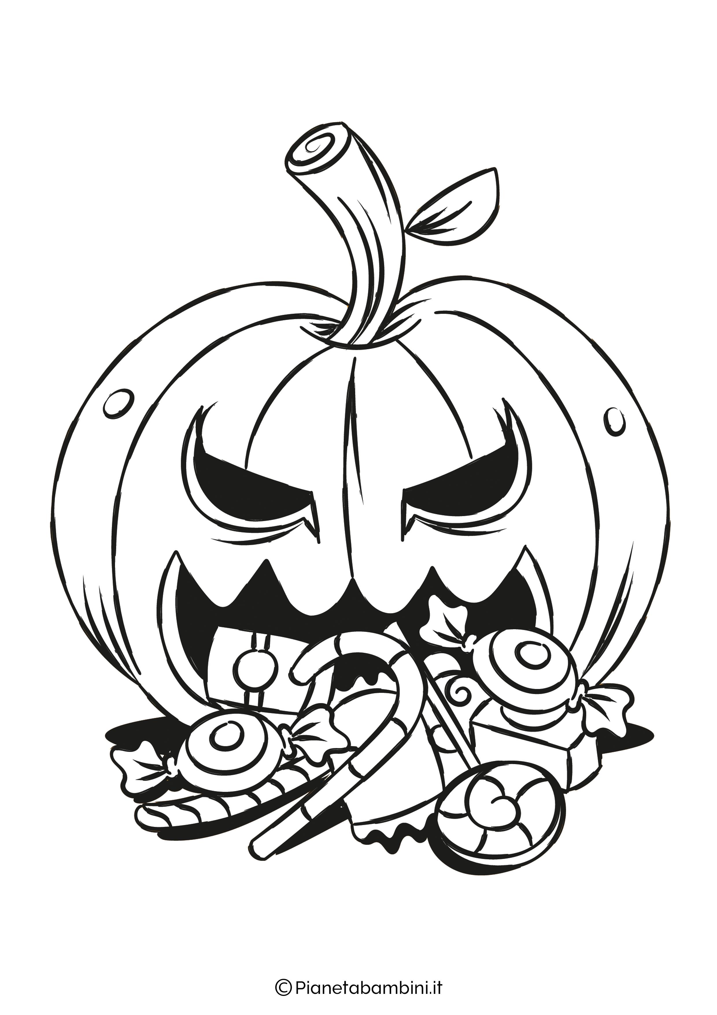 Disegno di zucca di Halloween da Colorare 21