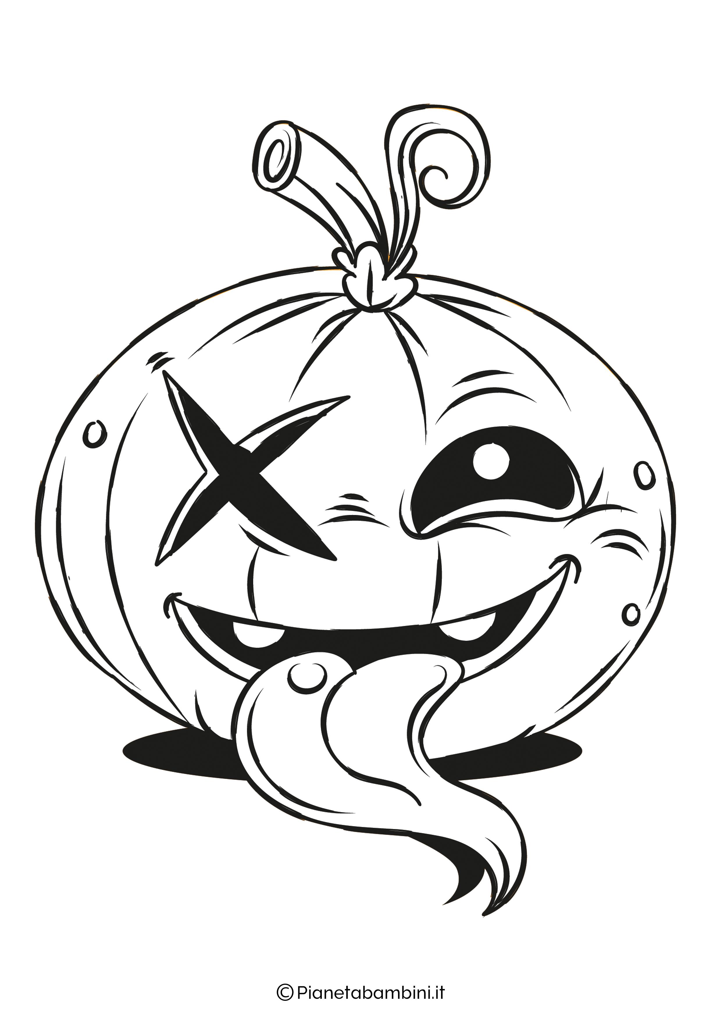 Disegno di zucca di Halloween da Colorare 23