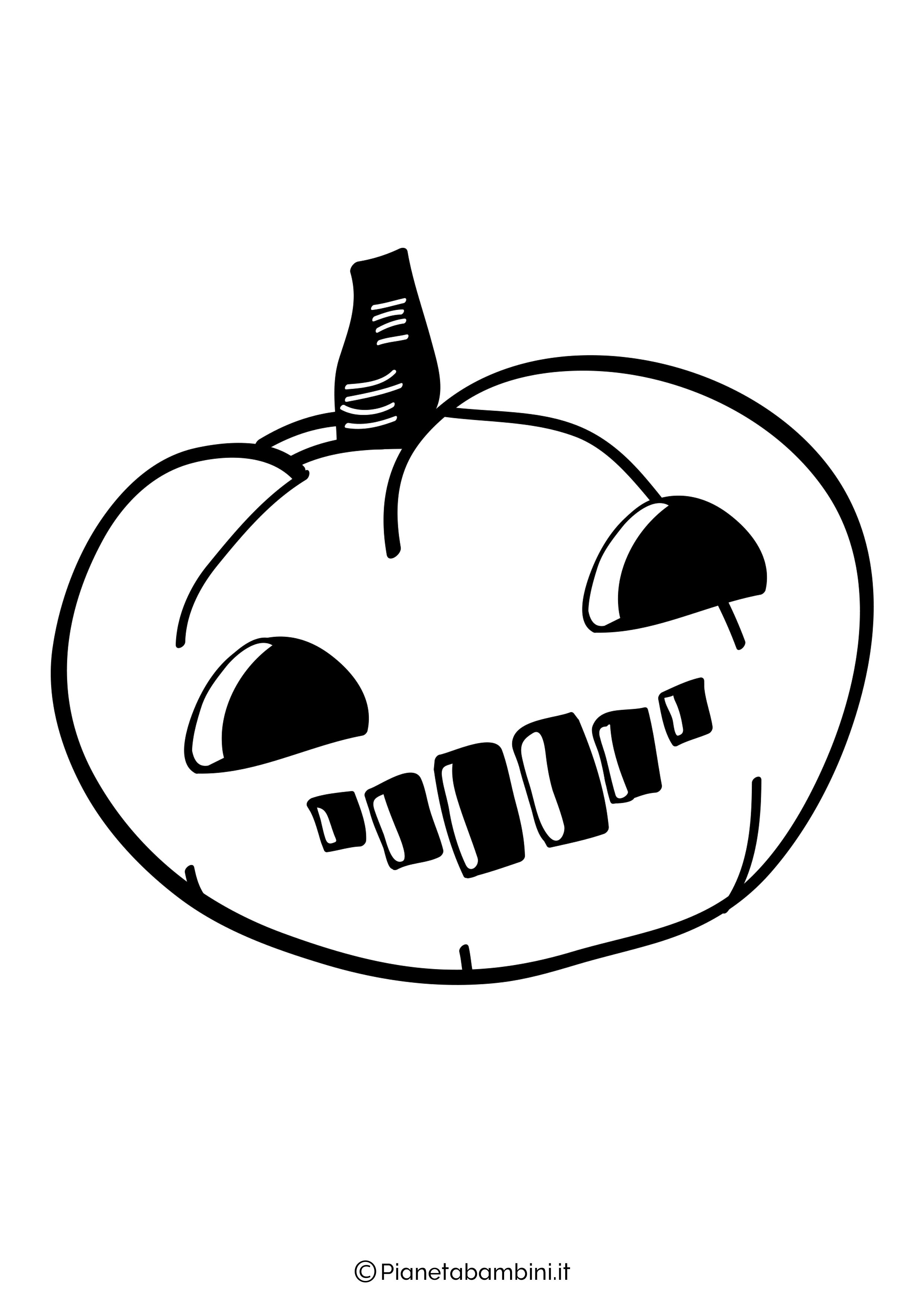 Disegno di zucca di Halloween da Colorare 24