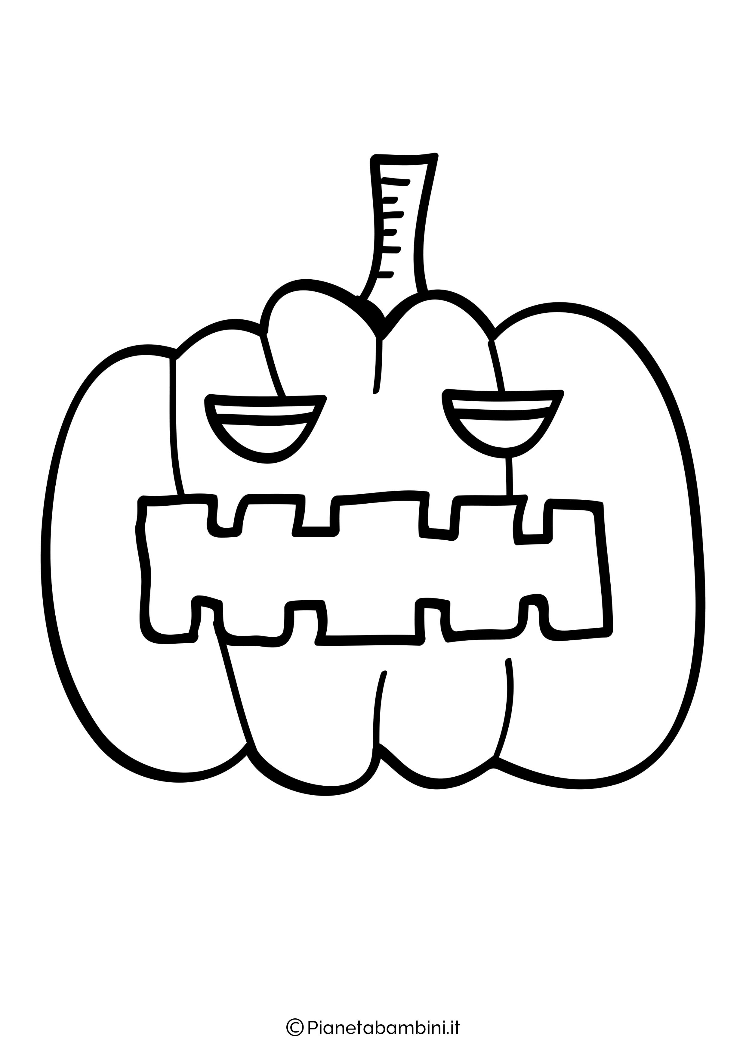 Disegno di zucca di Halloween da Colorare 25