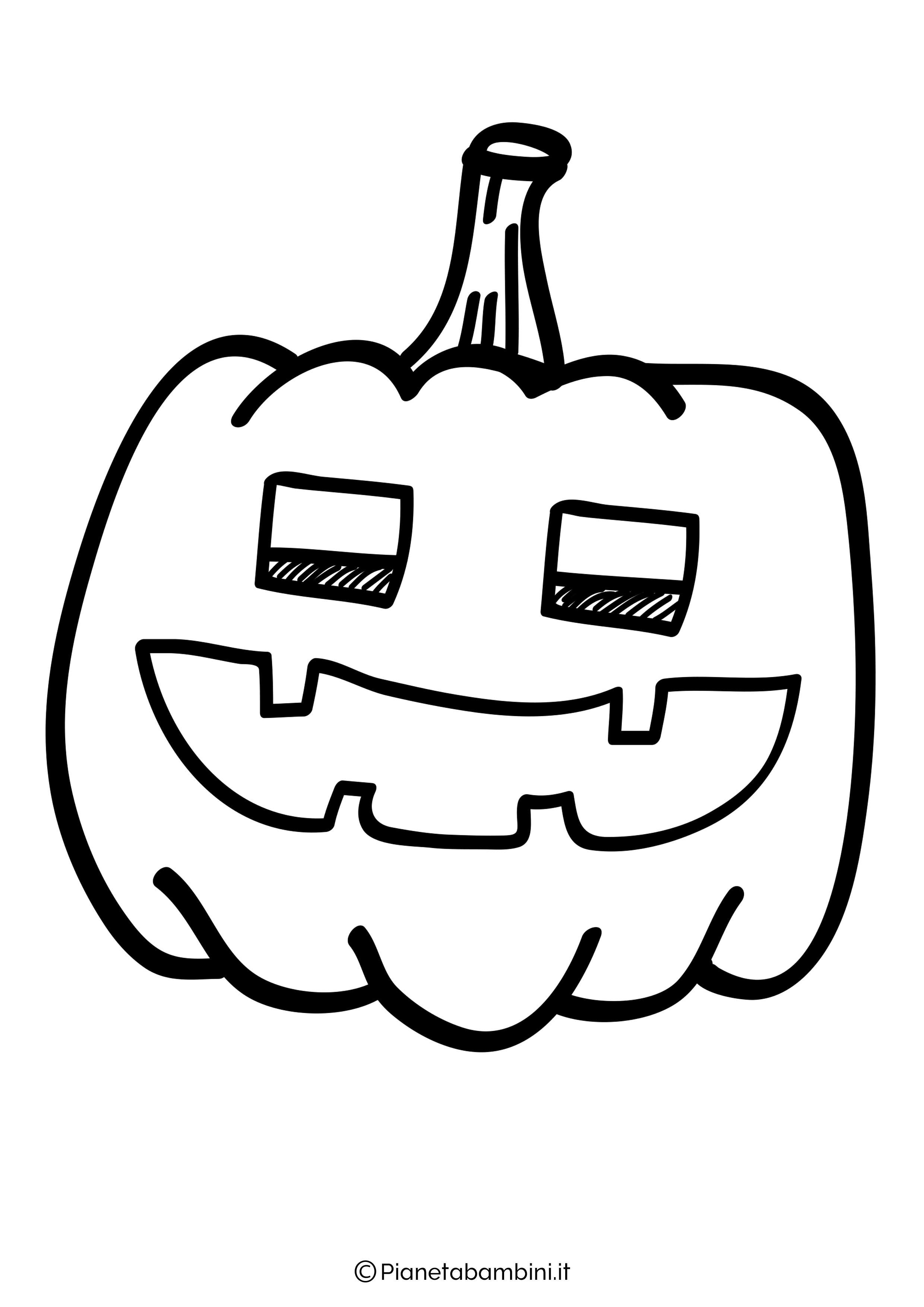 Disegno di zucca di Halloween da Colorare 26