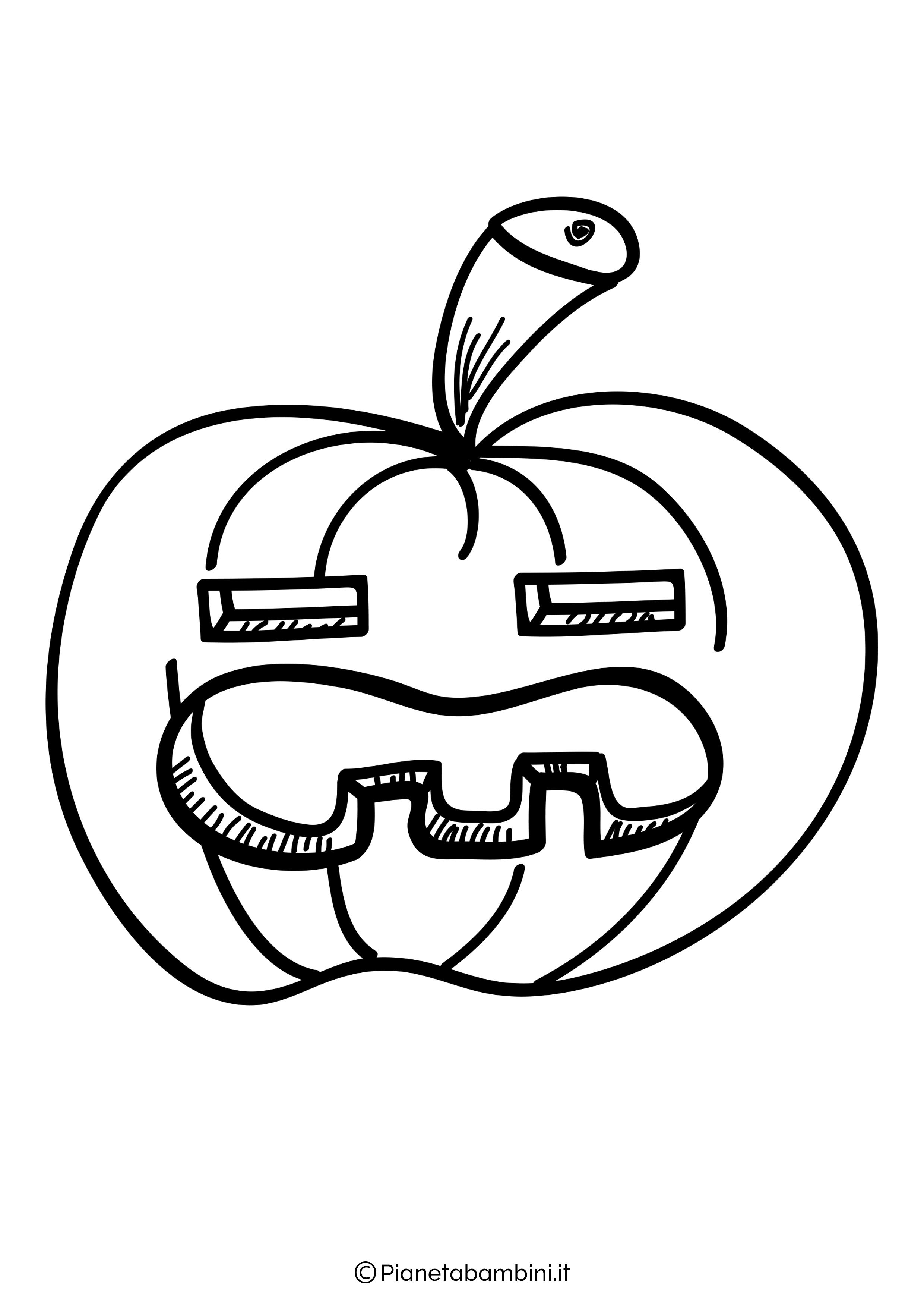 Disegno di zucca di Halloween da Colorare 27