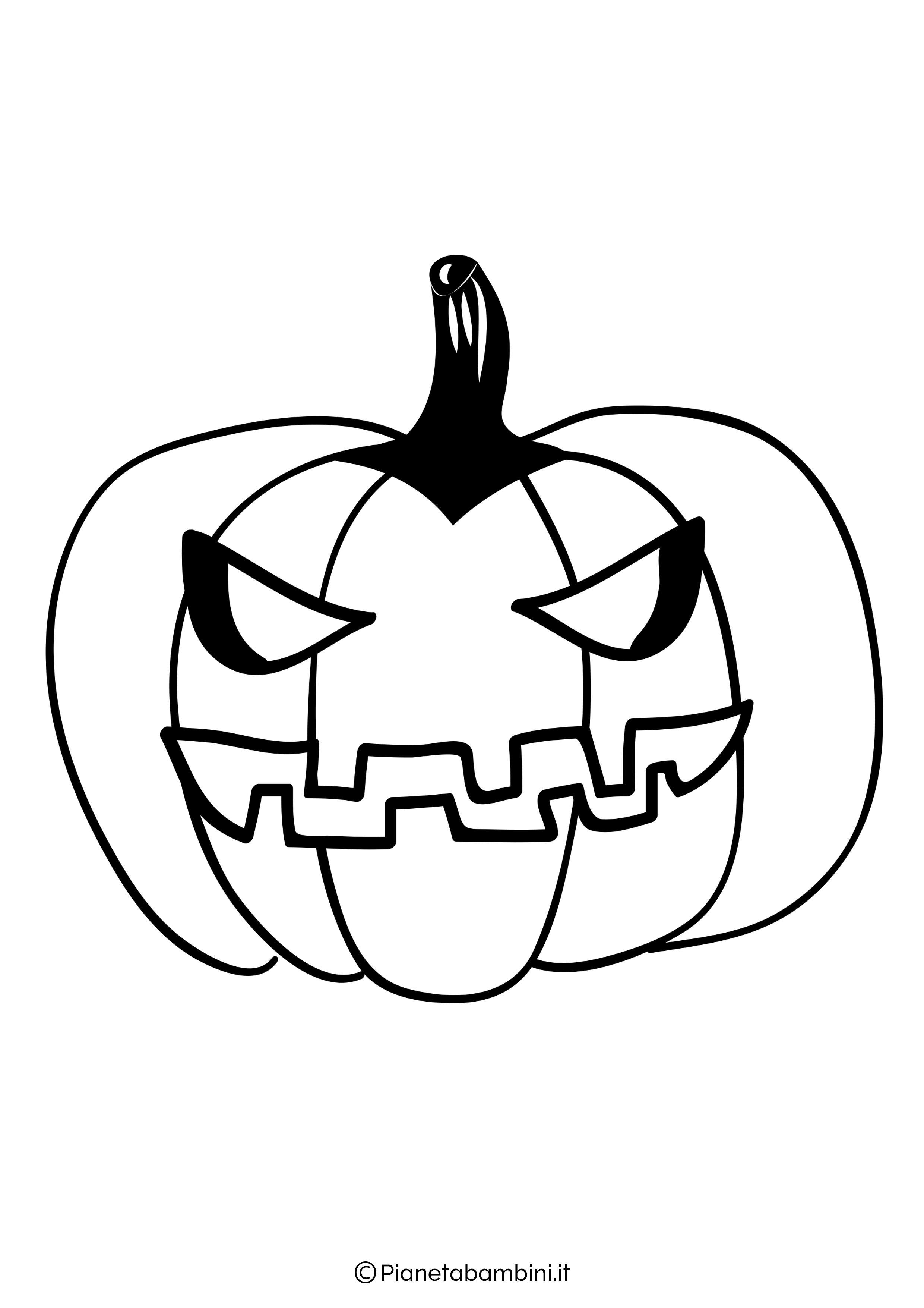 Disegno di zucca di Halloween da Colorare 28