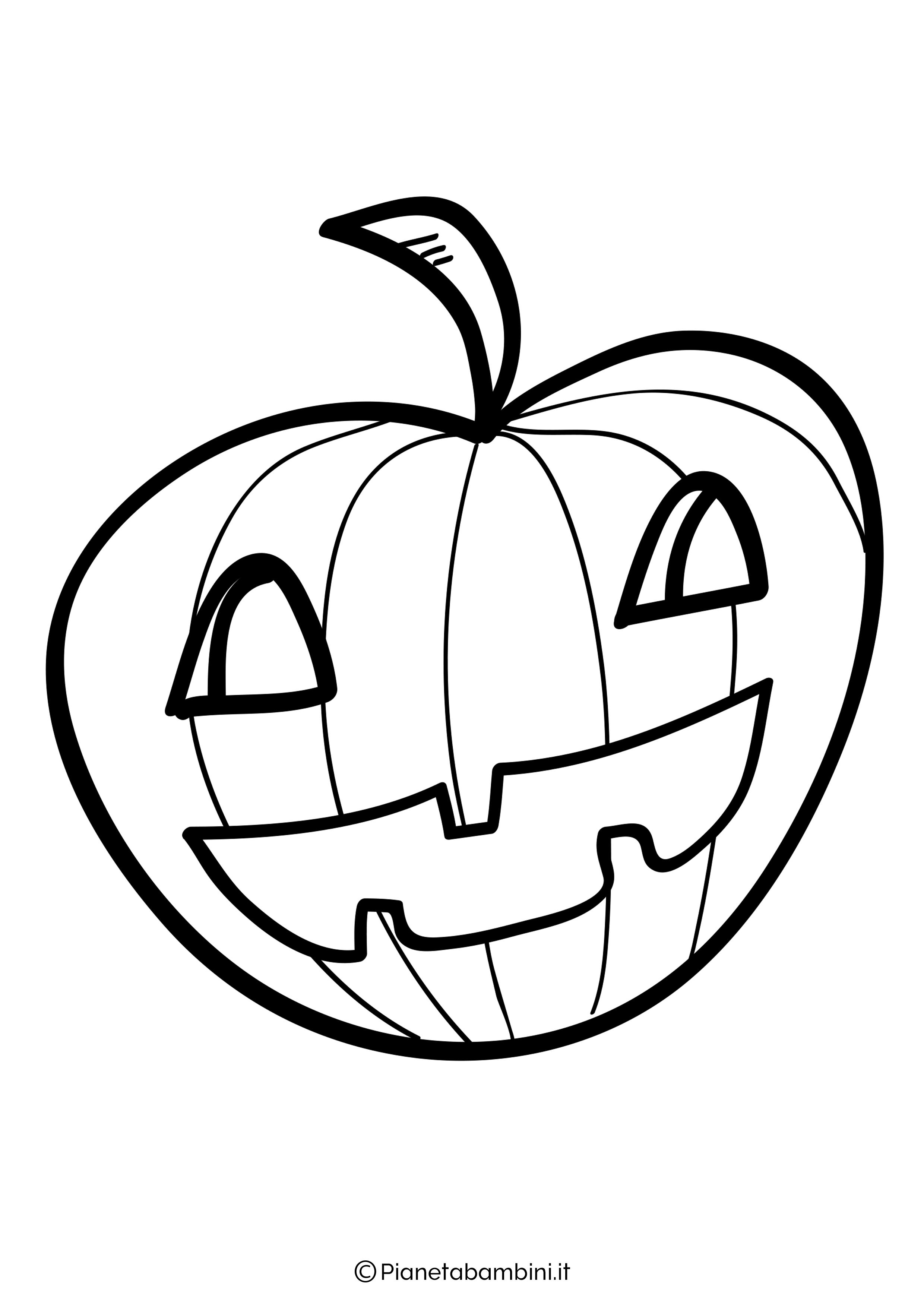 Disegno di zucca di Halloween da Colorare 29