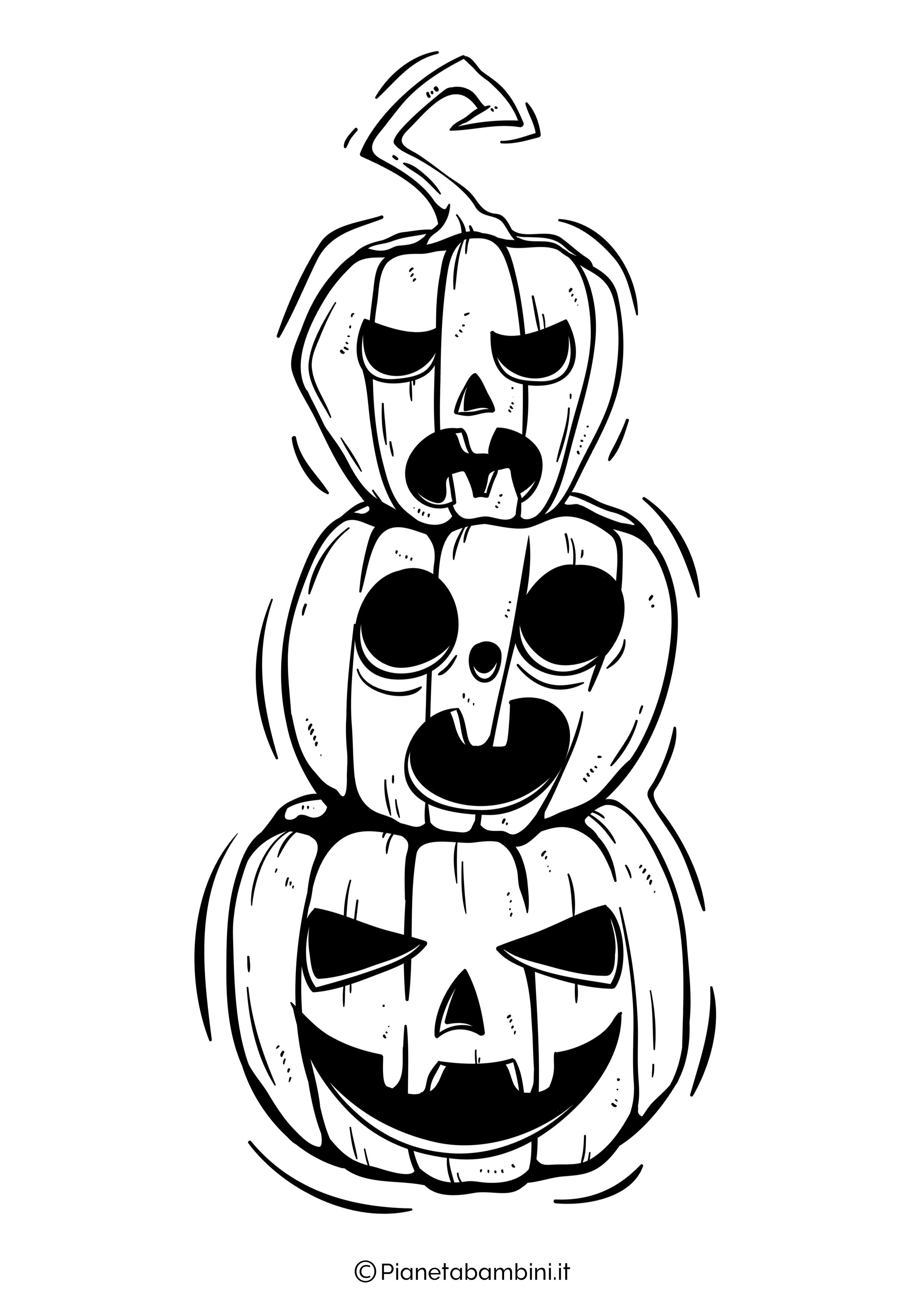 Disegno di zucca di Halloween da Colorare 30