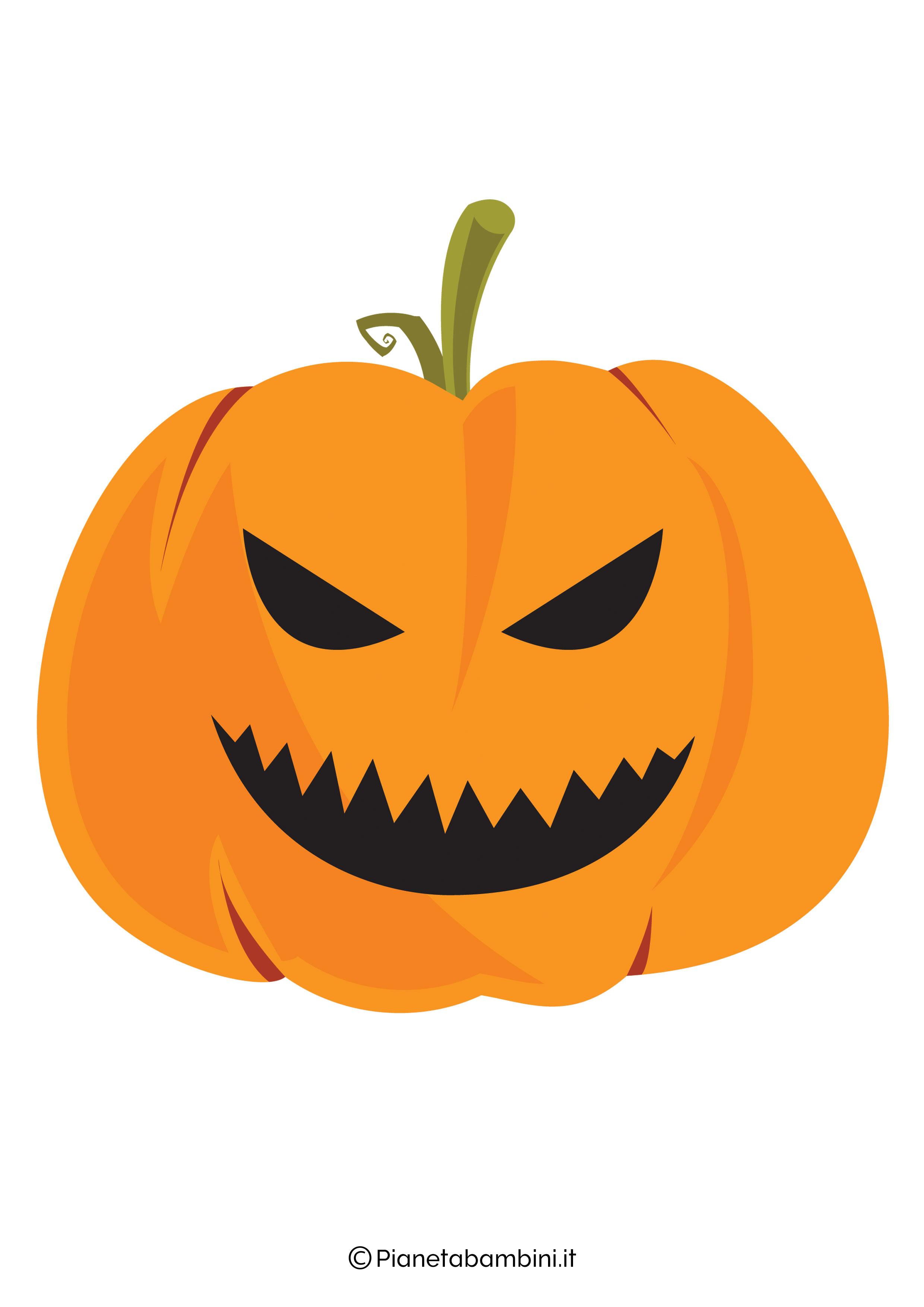 Disegno di zucca di Halloween da ritagliare 01
