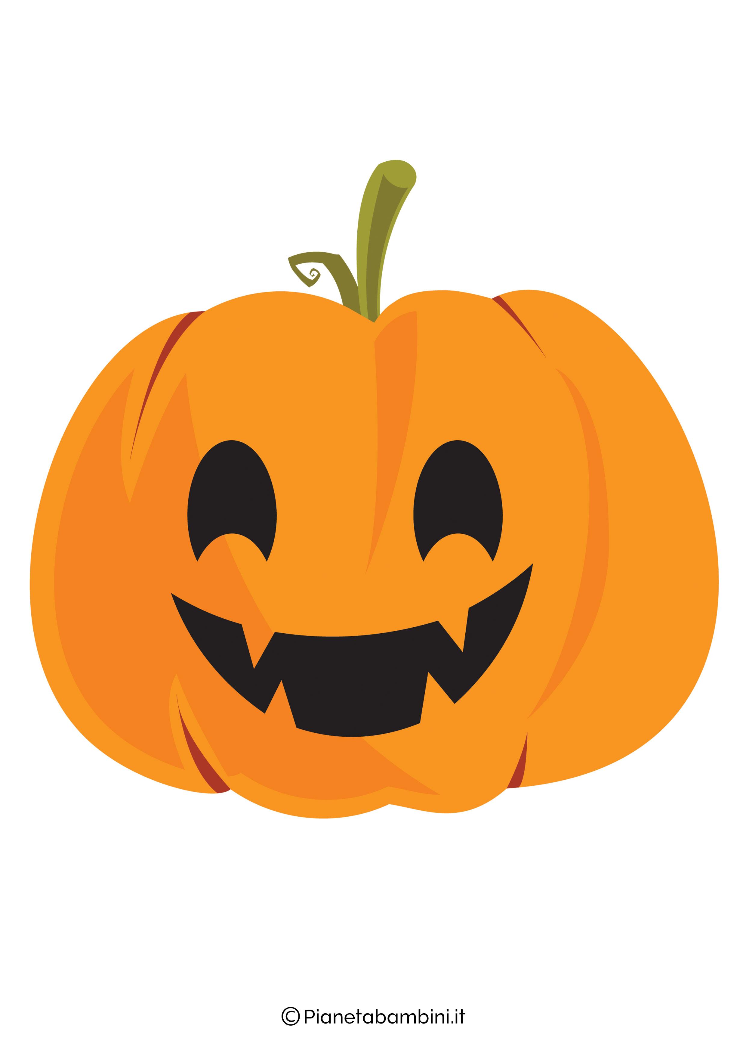 Disegno di zucca di Halloween da ritagliare 02