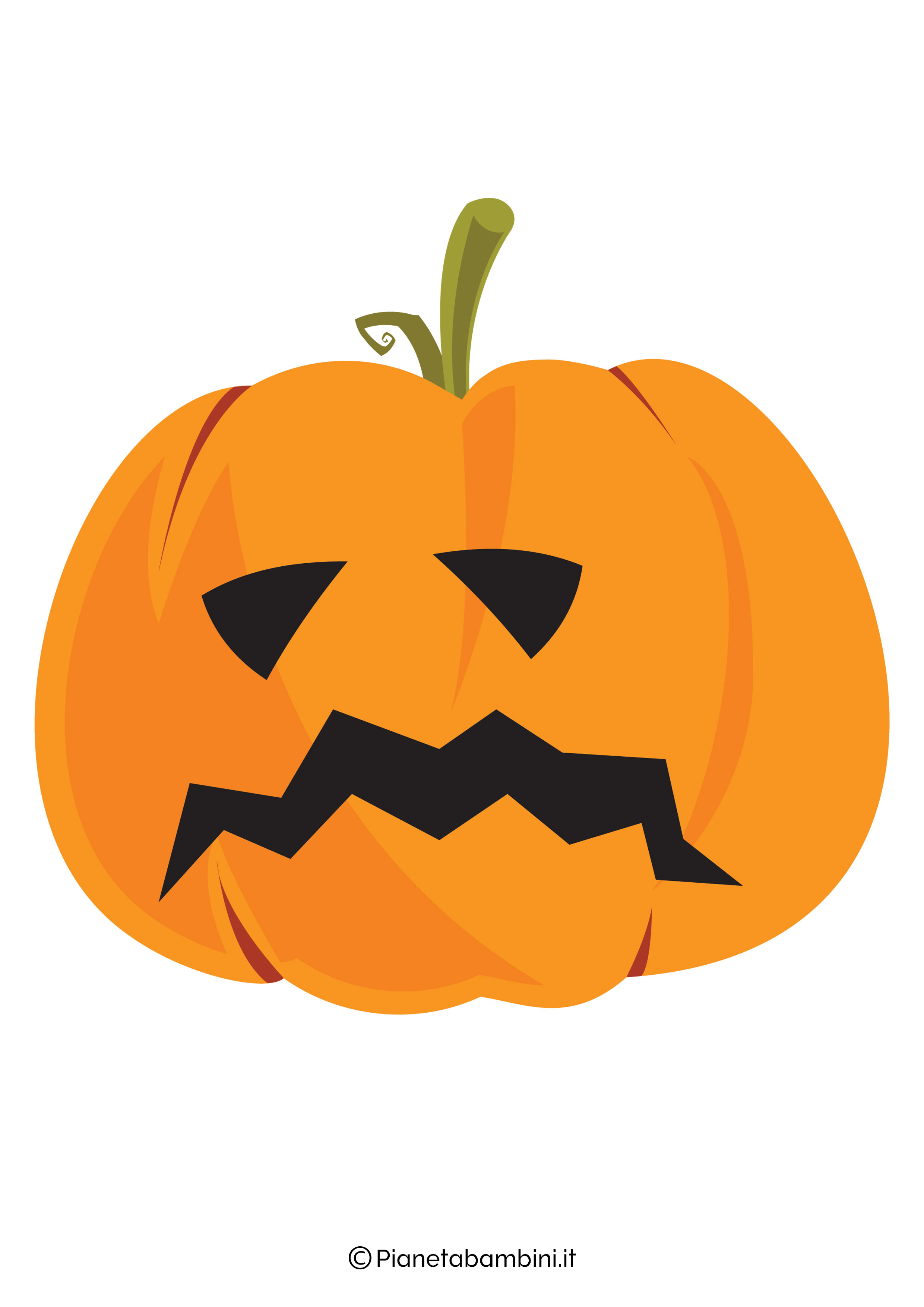 Disegno di zucca di Halloween da ritagliare 03