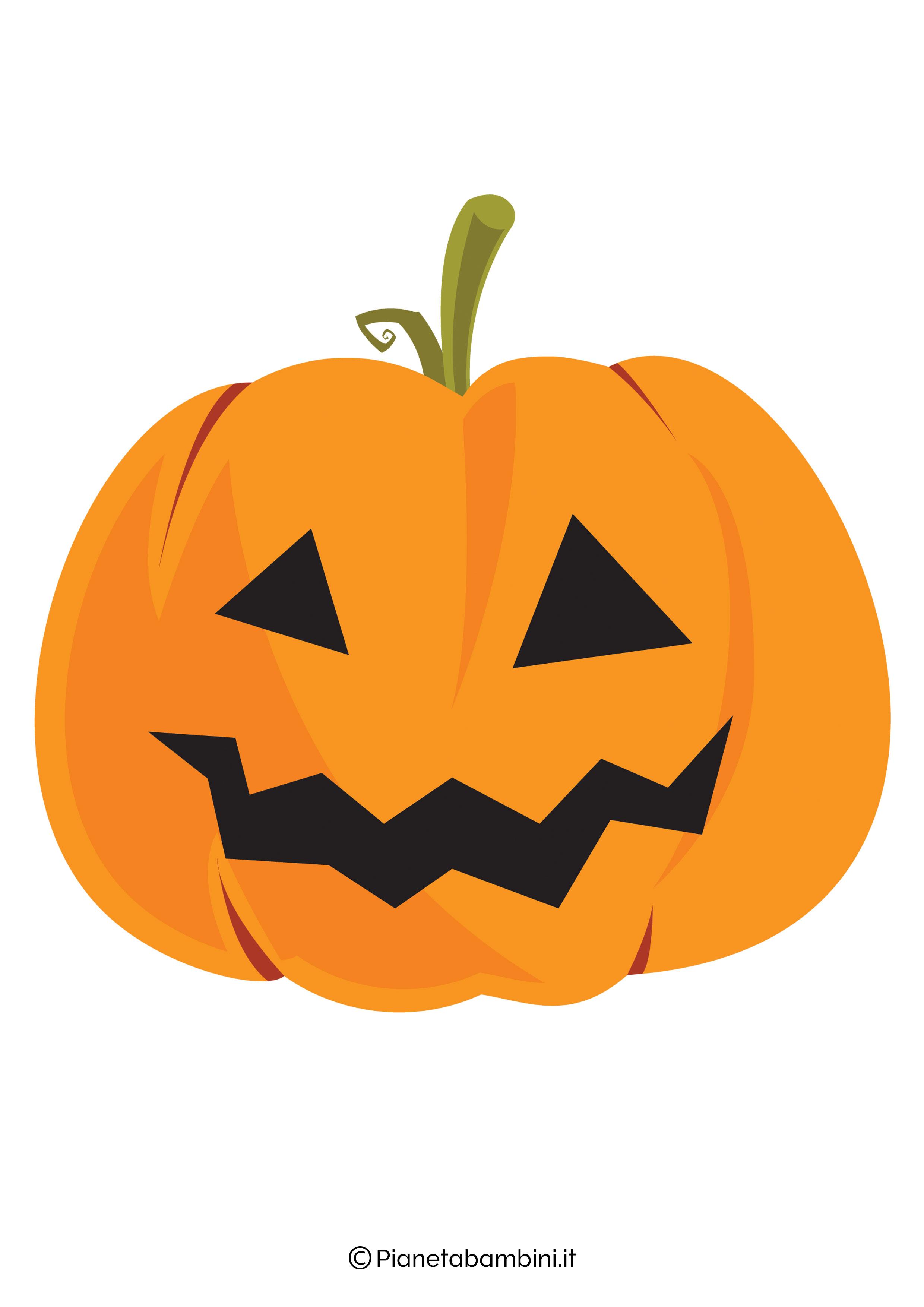 Disegno di zucca di Halloween da ritagliare 04