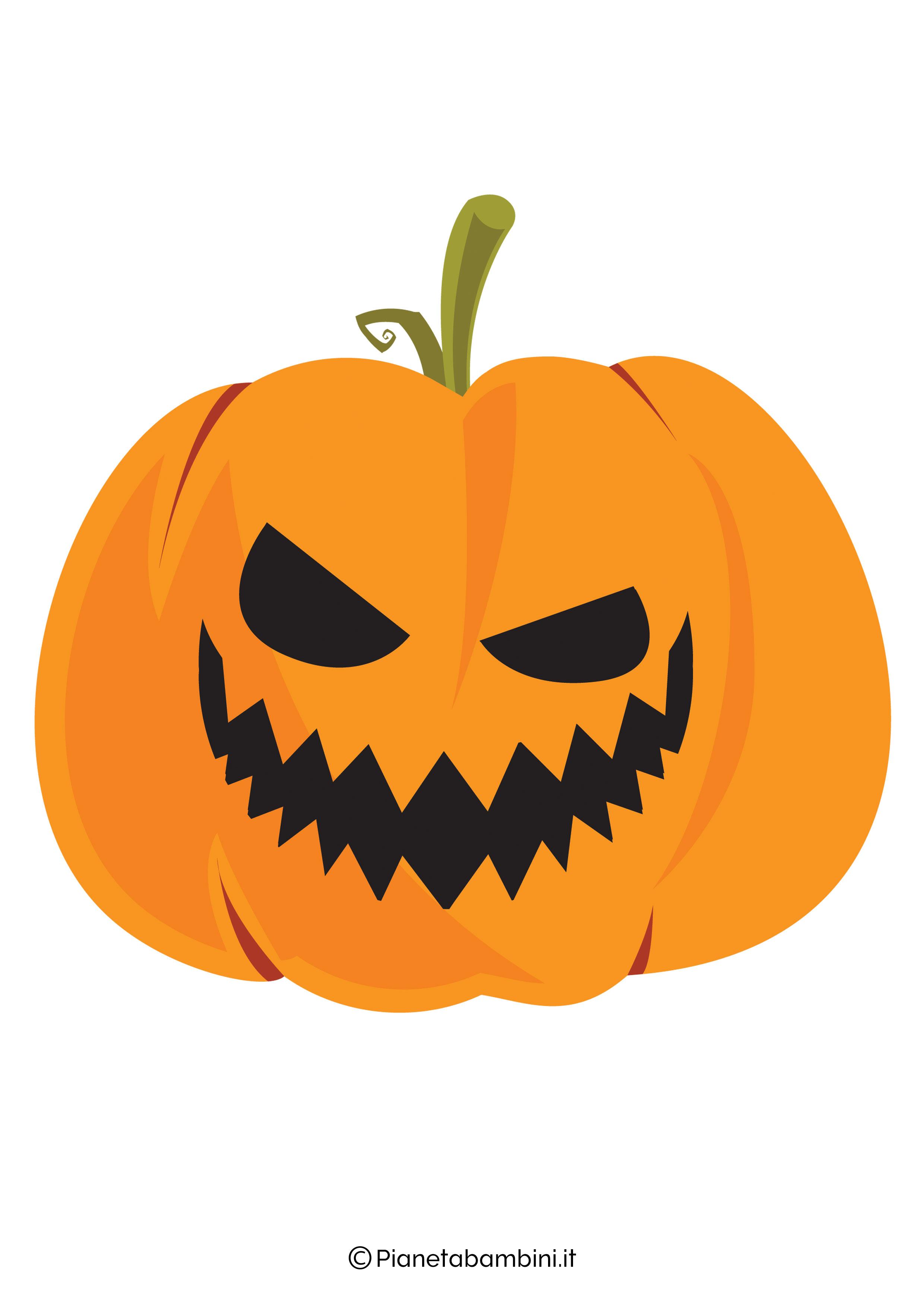 Disegno di zucca di Halloween da ritagliare 05
