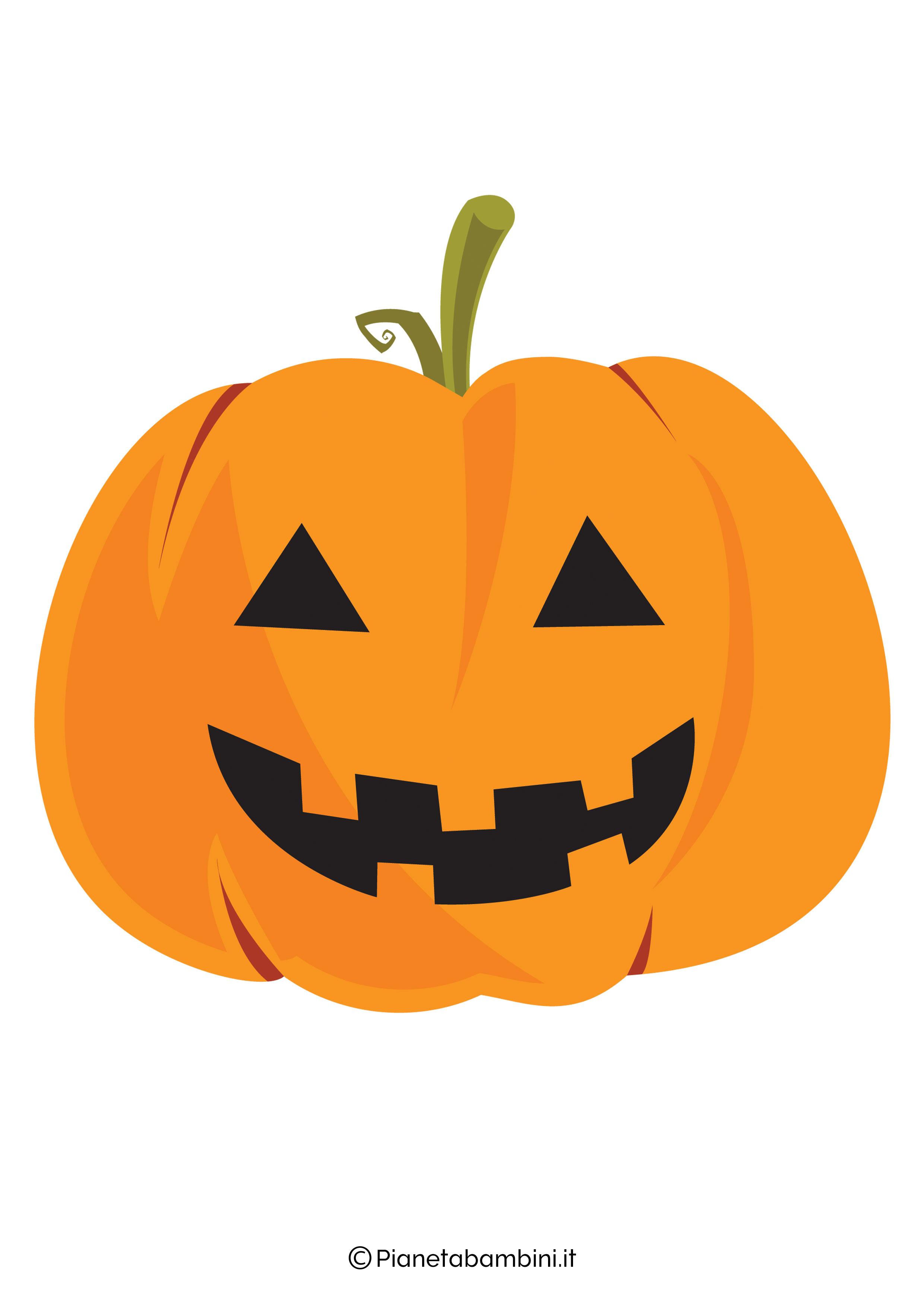 Disegno di zucca di Halloween da ritagliare 06