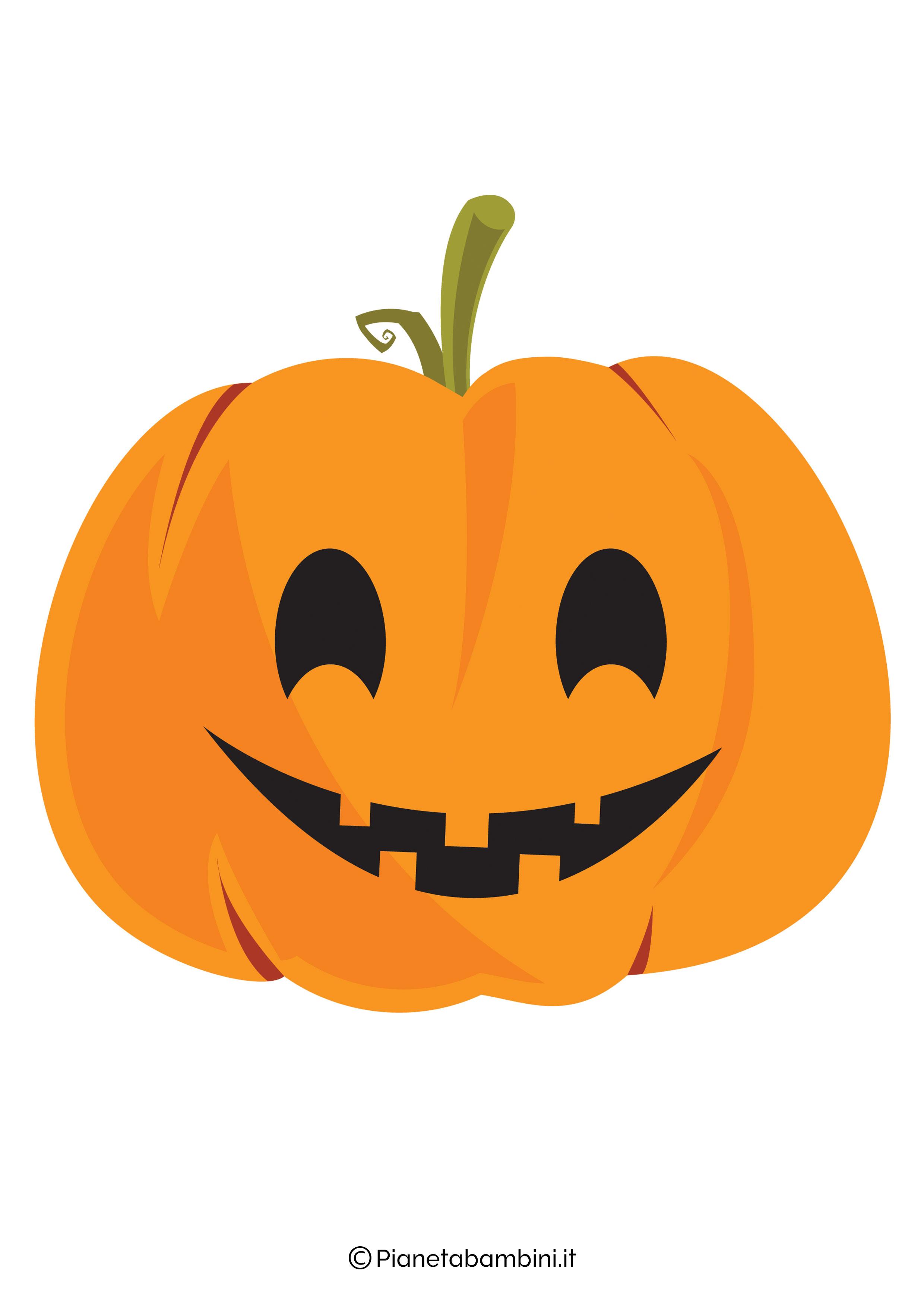 Disegno di zucca di Halloween da ritagliare 07