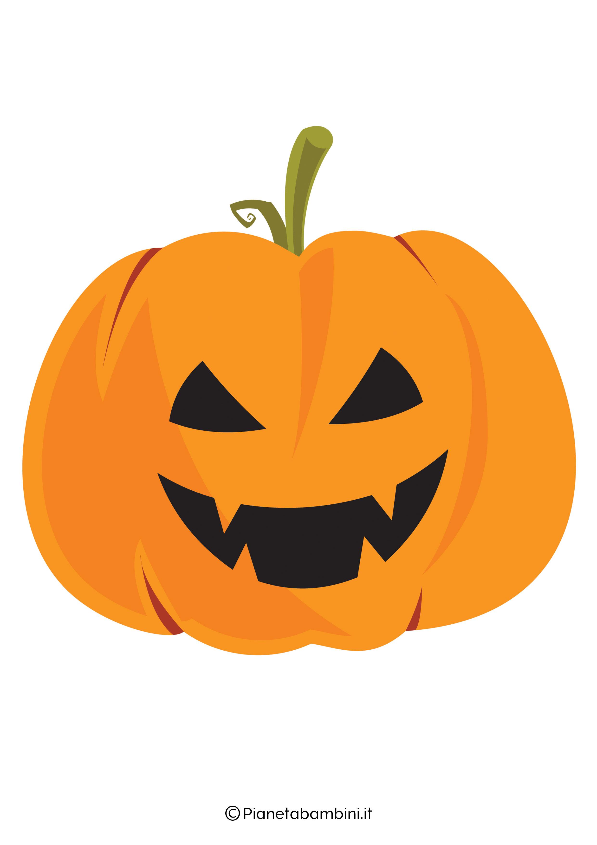 Disegno di zucca di Halloween da ritagliare 08