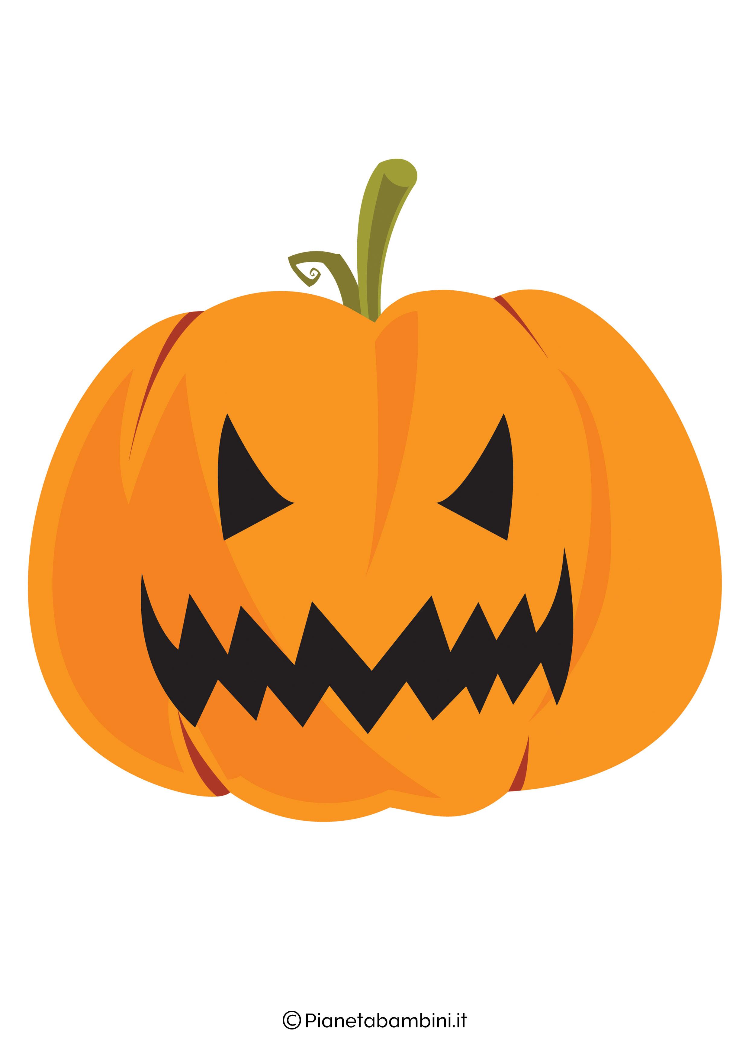 Disegno di zucca di Halloween da ritagliare 09