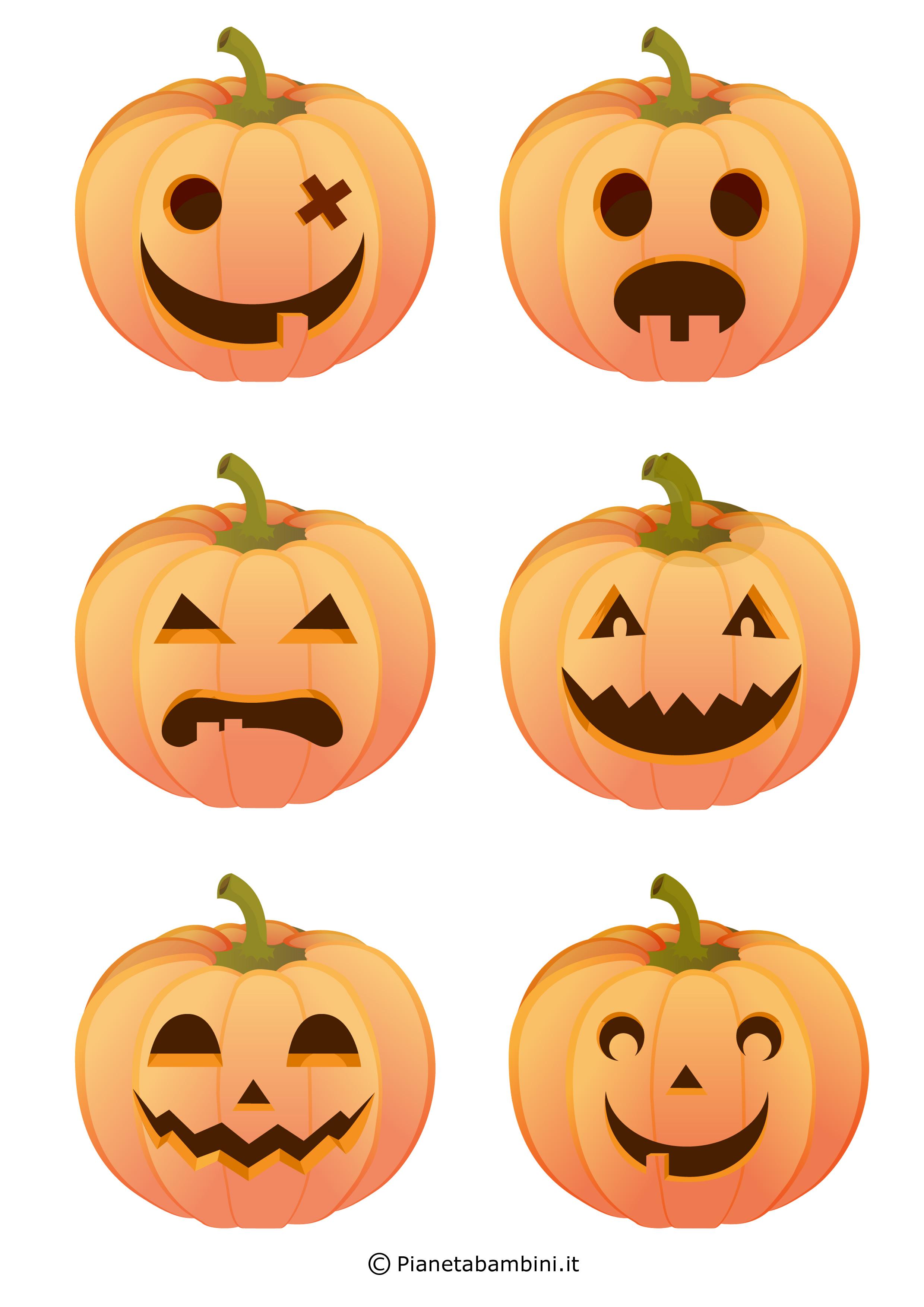 Immagini di zucche di halloween da stampare e ritagliare - Immagini pipistrello da stampare ...