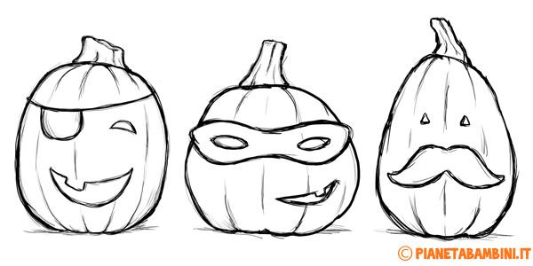 Disegni di zucche di Halloween pronti da stampare e da colorare