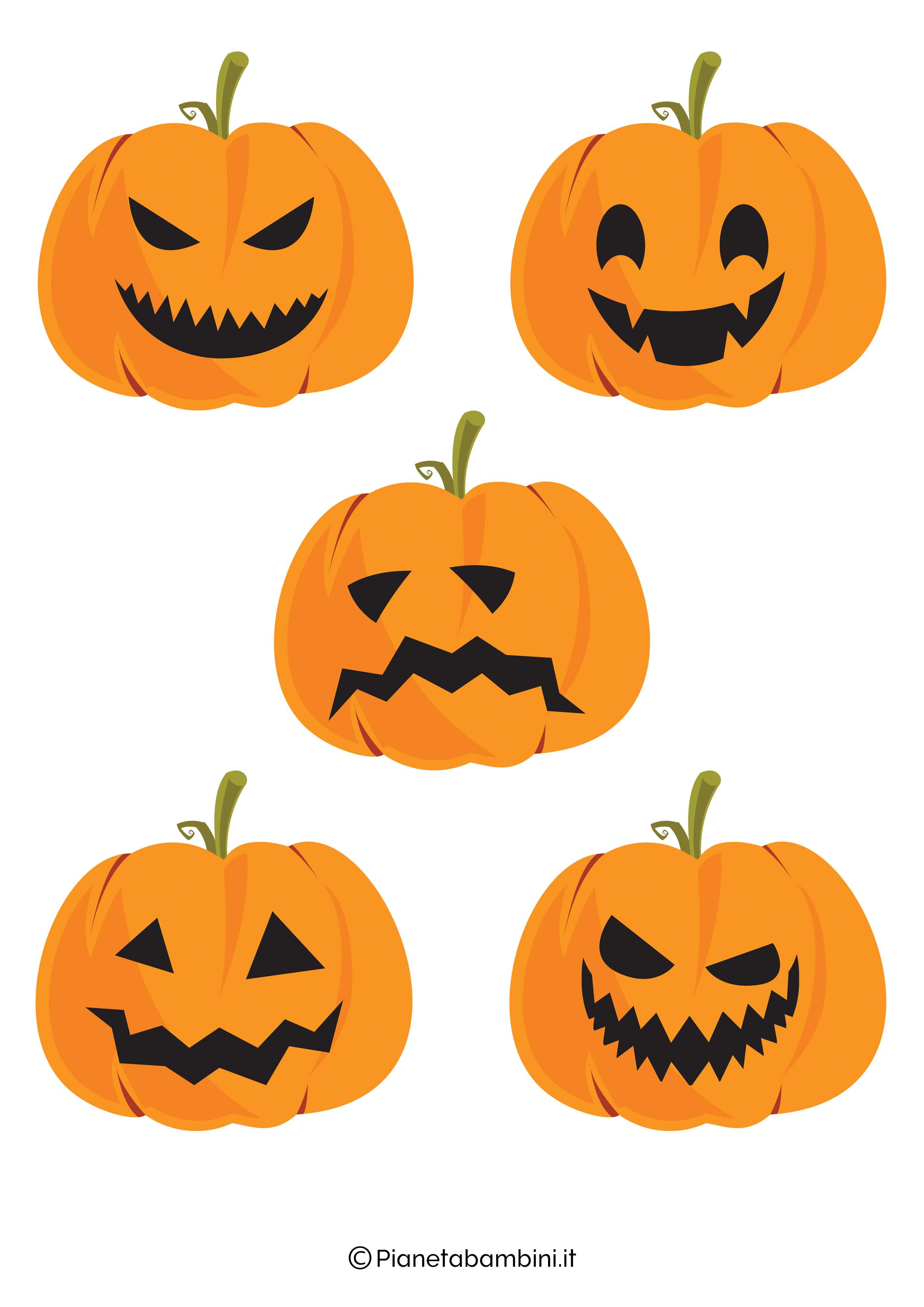 Disegno di zucca di Halloween da ritagliare 10