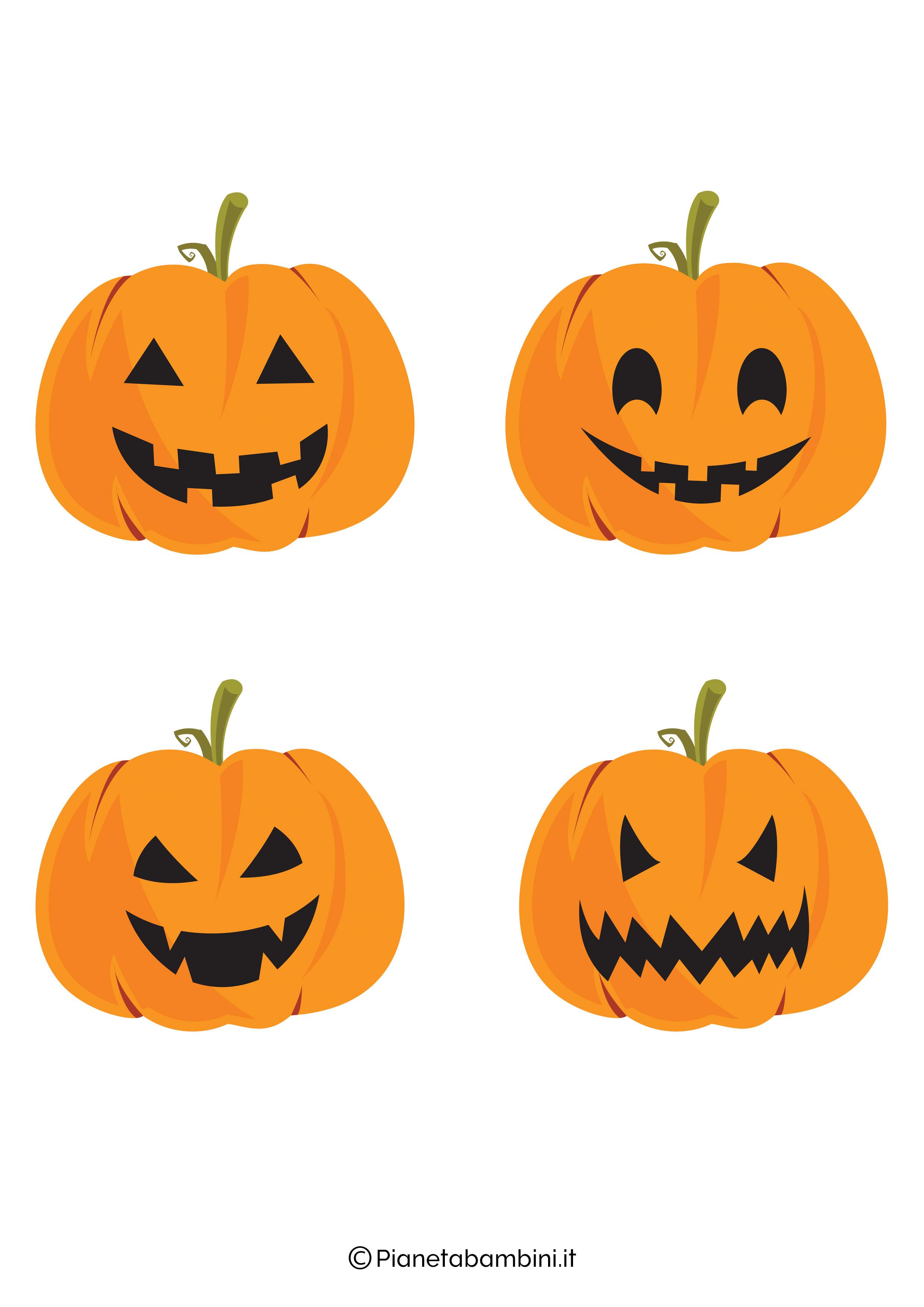 Disegno di zucca di Halloween da ritagliare 11