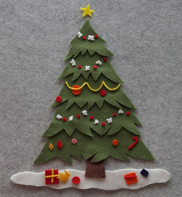 Immagine dell'alberello di Natale in feltro n.02