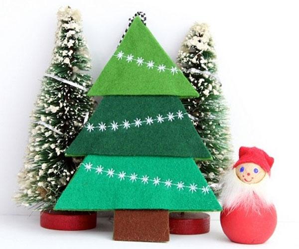 Immagine dell'alberello di Natale in feltro n.03