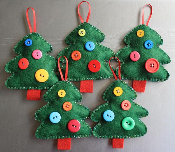 Alberelli Di Natale In Feltro O Pannolenci 30 Idee Fai Da Te
