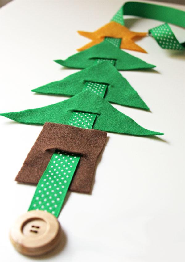 Immagine dell'alberello di Natale in feltro n.11