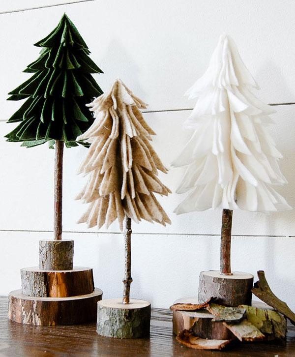 Immagine dell'alberello di Natale in feltro n.19