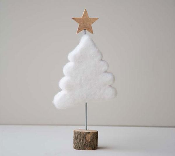 Immagine dell'alberello di Natale in feltro n.22