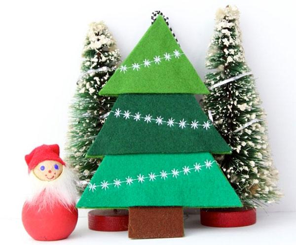 Immagine dell'alberello di Natale in feltro n.24