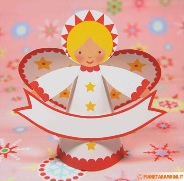 Angeli di carta fai da te da stampare ritagliare e for Angeli per bambini da colorare