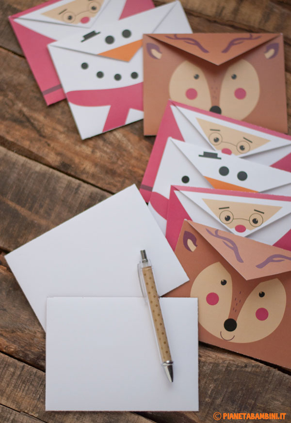 Buste da lettera natalizie fai da te per bambini