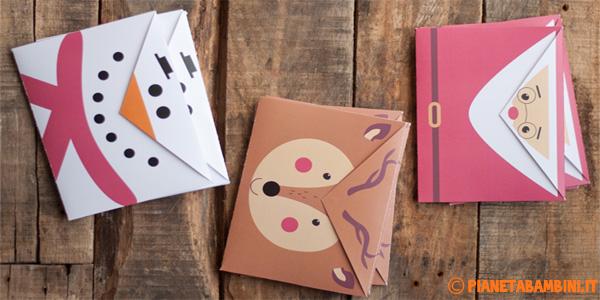Buste da lettera natalizie fai da te pronte da stampare gratis