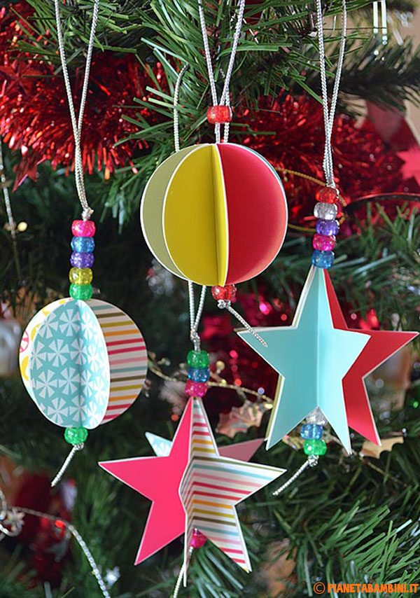 Christmas Decoration Ideas To Make : Decorazioni albero di natale fai da te stelle e palline