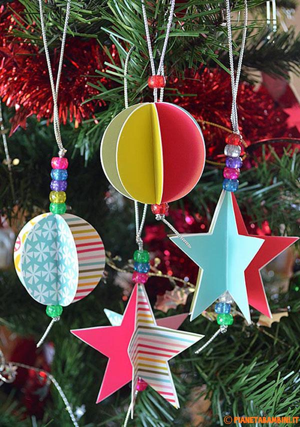 Idee per decorazioni fai da te dell'albero di Natale
