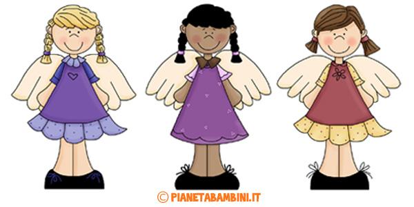 Immagini di angeli per bambini da stampare gratis e ritagliare