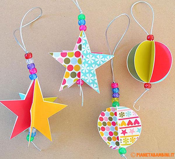 Come costruire stelle e palline natalizie fai da te