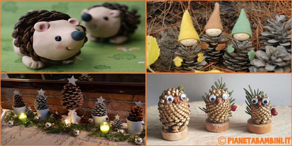 Idee per creare lavoretti natalizi con le pigne per bambini