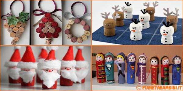 Idee per creare lavoretti di Natale con tappi di sughero