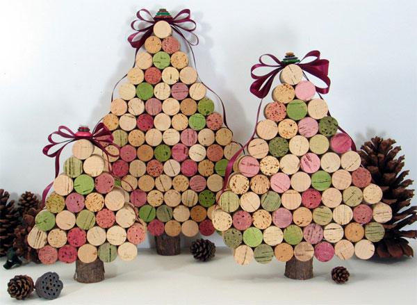 Come creare degli alberi di Natale con i tappi di sughero