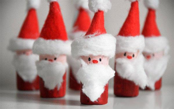 Come creare Babbo Natale con i tappi di sughero