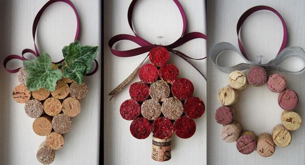 Tre simpatiche idee per decorazioni natalizie con tappi di sughero