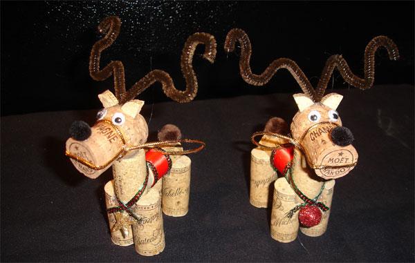 Come creare delle renne con i tappi di sughero