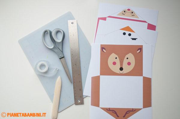 Occorrente per la creazione della busta da lettera natalizia