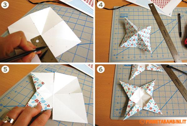 Passaggi necessari alla creazione della stella di carta