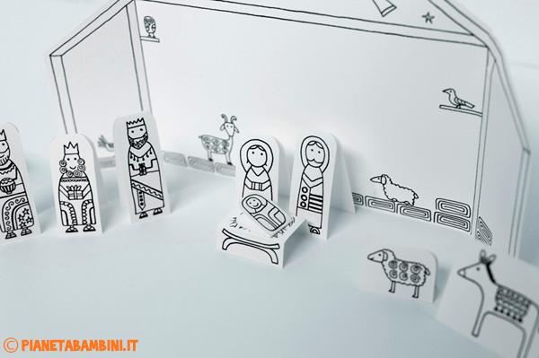I personaggi del presepe da stampare gratis