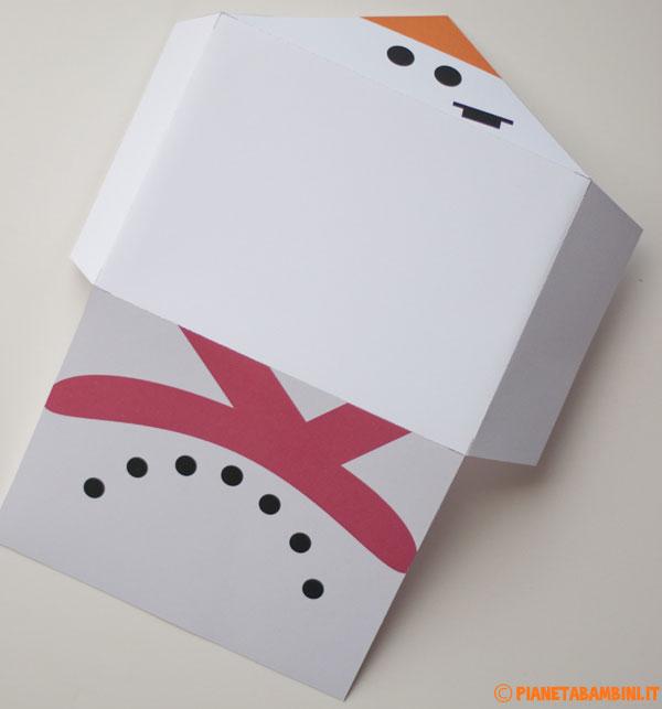 Come piegare la busta da lettera natalizia