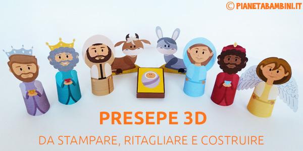 Presepe di Carta 3D per bambini da stampare e costruire